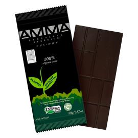 Chocolate orgânico 100% cacau 80g - AMMA