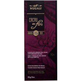 Chocolate 70% cacau com açaí 85g - Nugali