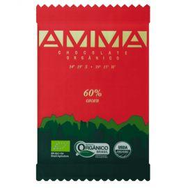 Chocolate orgânico 60% cacau 30g - AMMA