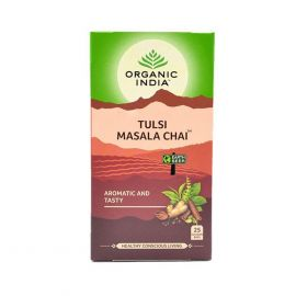 Chá Tusli masala chai caixa com 25 sachês - Organic India