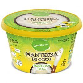 Manteiga de coco sem sal 200g - Qualicoco