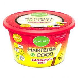 Manteiga de coco sem sal sabor manteiga 200g - Qualicoco