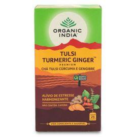 Chá Tulsi açafrão e gengibre caixa 25 sachês - Organic India