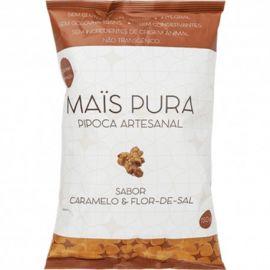 Pipoca artesanal caramelo e flor-de-sal 150g - Mais Pura