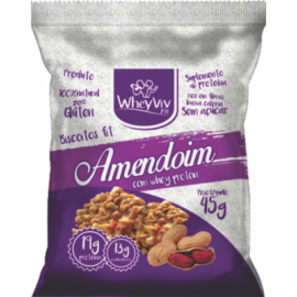 Biscoito Fit de amendoim com whey protein 45g - Wheyviv