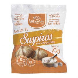 Biscoito Fit suspiros com whey protein 45g - Wheyviv